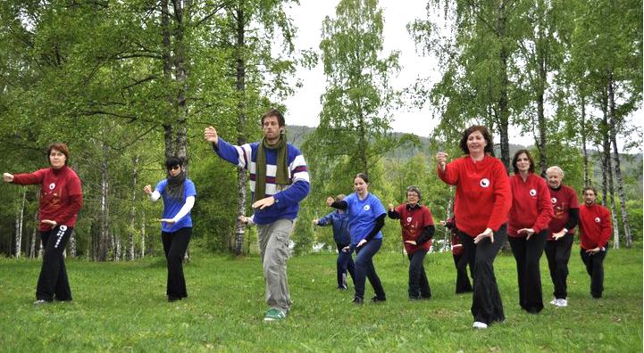 Oppvisning i Taoistisk Tai Chi i Oslo Norway. Sognsvann